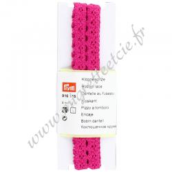 Dentelle au fuseau, 8 mm, Rose, Prym, Migrette et Cie, Prym 916115