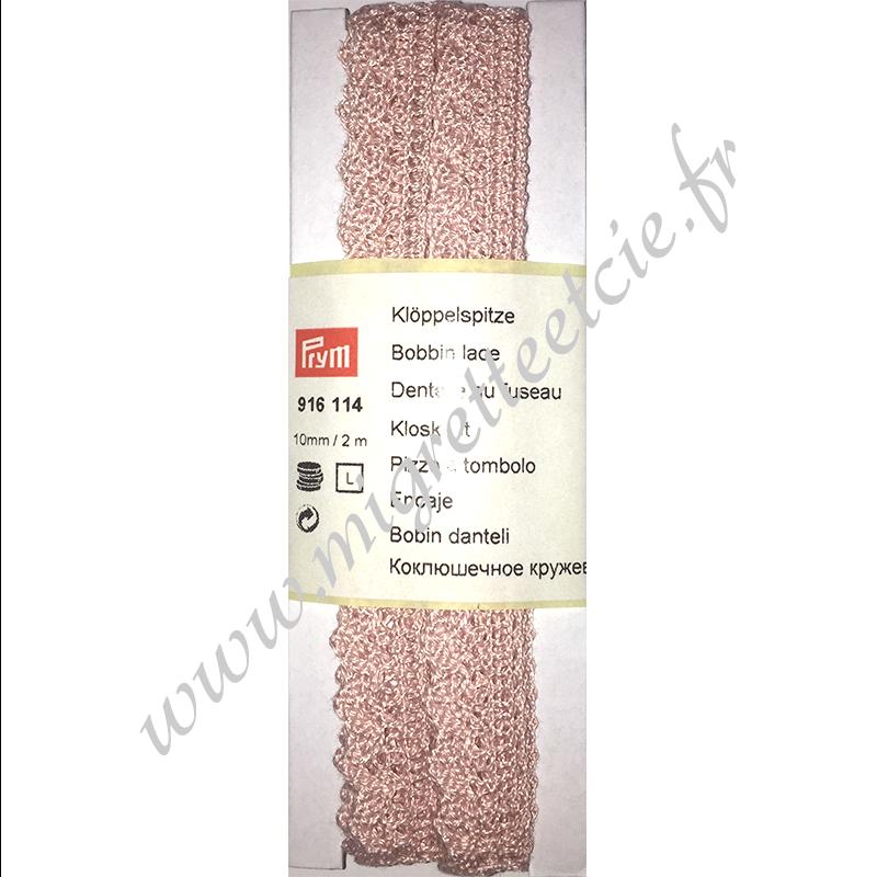 Dentelle au fuseau, 8 mm, Rose pale, Prym, Migrette et Cie, Prym 916114