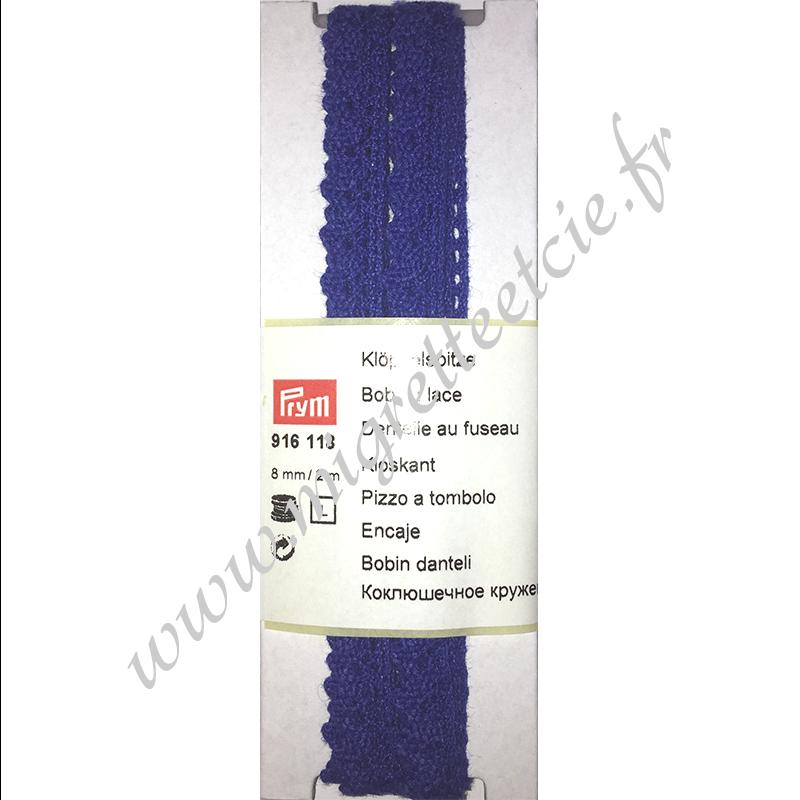 Dentelle au fuseau, 8 mm, 2m, Bleu marine, Prym, Migrette et Cie, Prym 916118