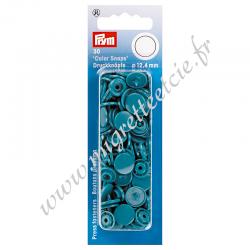 Boutons pression sans couture « Color Snaps », rond, 12.4mm, turquoise, PRYM, 393127, Migrette et Cie
