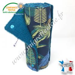 Essuie-tout lavable, coton imprimé Jangal, éponge de coton Paon -