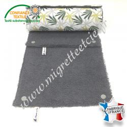 Essuie-tout lavable, coton imprimé Algao, éponge de coton grise, Migrette et Cie