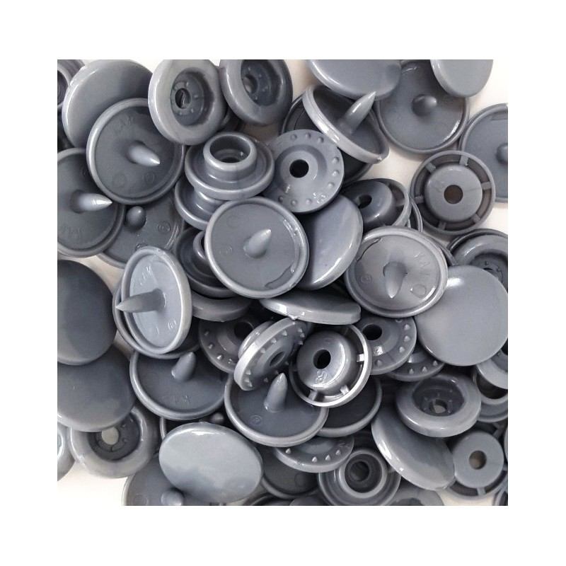 Boutons Pression gris -