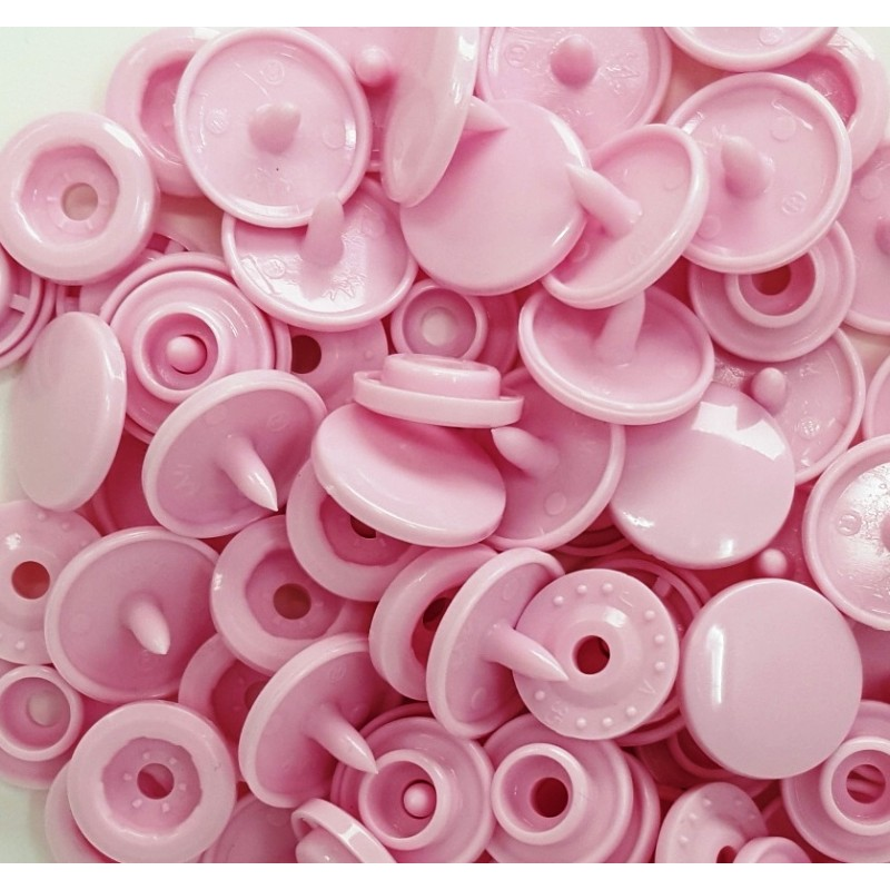 Boutons Pression rose clair -