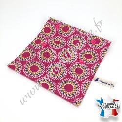 Pochette coton enduit - payani rose -