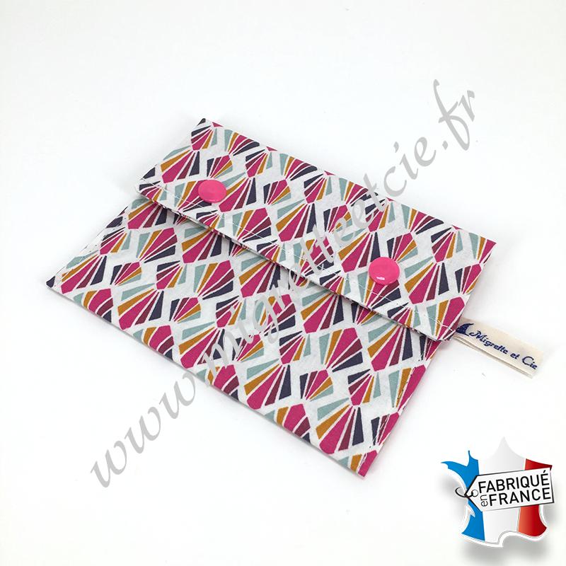 Pochette coton enduit - payani rose
