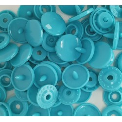 Boutons Pression bleu turquoise -