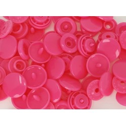 Boutons Pression rose -