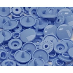 Boutons Pression bleu -