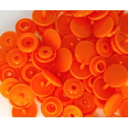 Boutons Pression orange -