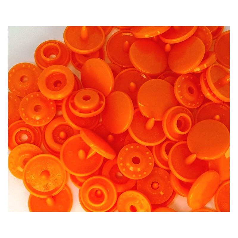 Boutons Pression orange -