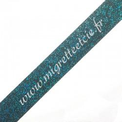 Galon pailleté Turquoise, 30 mm, Migrette et Cie