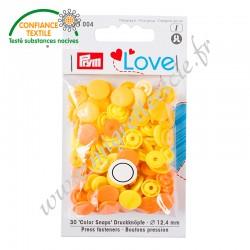 Bouton pression Color, 12.4mm, jaune, Prym Love, Migrette et Cie, Prym 393004