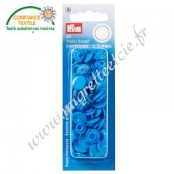 Boutons pression sans couture « Color Snaps », rond, 12.4mm, bleu acier, PRYM, 393108, Migrette et Cie