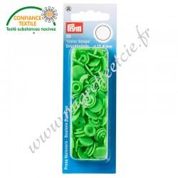 Boutons pression sans couture « Color Snaps », rond, 12.4mm, vert clair, PRYM, 393114, Migrette et Cie