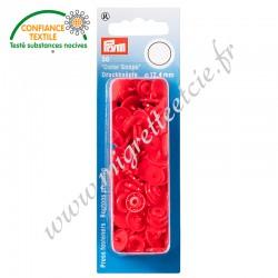 Boutons pression sans couture « Color Snaps », rond, 12.4mm, rouge clair, PRYM, 393101, Migrette et Cie