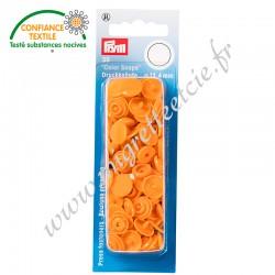 Boutons pression sans couture « Color Snaps », rond, 12.4mm, orange, PRYM, 393140, Migrette et Cie