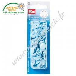 Boutons pression sans couture « Color Snaps », rond, 12.4mm, bleu clair, PRYM, 393120, Migrette et Cie