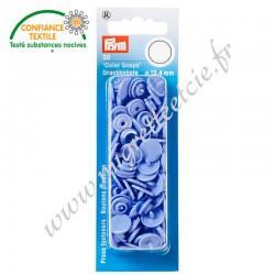 Boutons pression sans couture « Color Snaps », rond, 12.4mm, bleu lavande, PRYM, 393148, Migrette et Cie