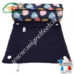 Essuie-tout lavable, coton imprimé Cories, éponge de coton bleu nuit, Migrette et Cie