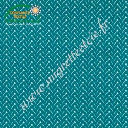 Coton imprimé Lixneg paon, Migrette et Cie