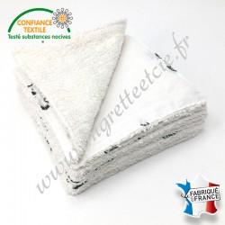Lingettes lavables, coton imprimé Luan, éponge de bambou, Migrette et Cie