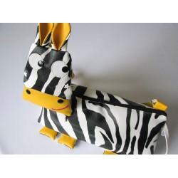 Naëlle la zébrelle - sac bandoulière zèbre pour enfant, patron téléchargeable