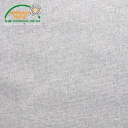 Coton enduit gris façon Lin, Migrette et Cie