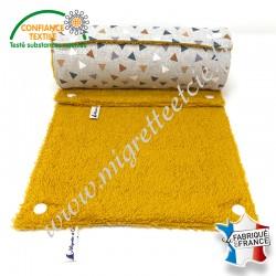 Essuie-tout lavable, coton imprimé Pyramide façon Lin, éponge de coton, Migrette et Cie