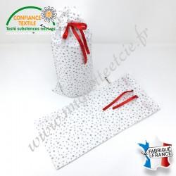 Emballage cadeaux en tissu, Migrette et Cie. Idéal pour l'emballage d'un essuie-tout lavable.