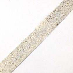Galon pailleté Doré, fond blanc, 30 mm, Migrette et Cie