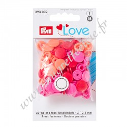 Bouton pression Color Snaps, Prym Love, 12,4mm, rouge PRYM 393002, Migrette et Cie