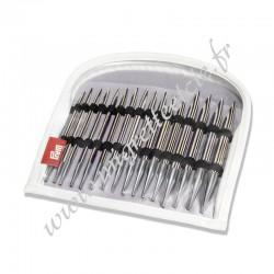 Aiguilles à tricoter circulaires, rayures lila, 4-10mm, Prym 223801, Migrette et Cie