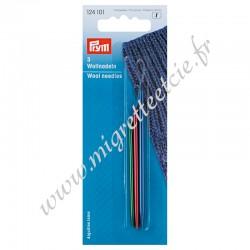 Aiguilles laine, en aluminium, assorties, Prym 124101, Migrette et Cie