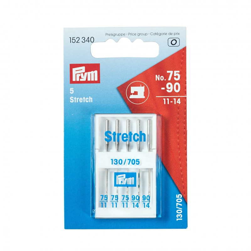 Aiguilles pour machines à coudre 130/705 « Stretch », 75 et 90, Prym, Migrette et Cie, Prym 152340