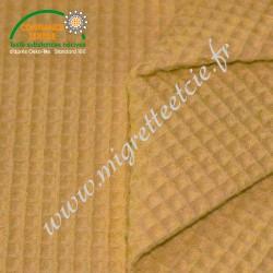 Tissu nid d'abeille moutarde ,Migrette et Cie