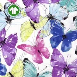 Voile de Coton butterfly wind, coton bio, tissu pauli, tissu bio, tissu butterfly wind, GOTS, migrette et cie