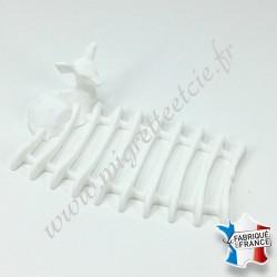 Porte-savon Biche, blanc, 9 x 13 cm, Migrette et Cie