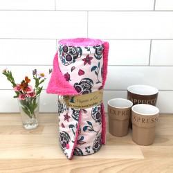 Essuie-tout lavable, coton imprimé Calaveras Blanc, éponge de coton, Migrette et Cie
