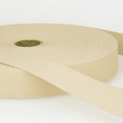 Sangle coton 30mm, Ecru, au mètre, Migrette et Cie
