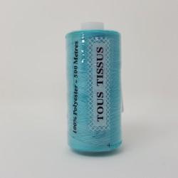 Bobine de Fil 500m Bleu paon -