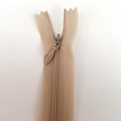 Fermeture à glissière invisible 22 cm Beige -